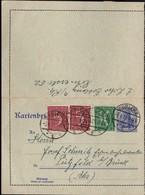 Germany - Stationery Letter Card, Kartenbrief (Mi. K 18) Zf. Mi. 158, 162, Koblenz Cöblenz, 2.6.1921- Pützfeld B. Brück. - Allemagne
