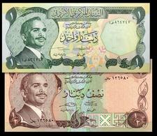 # # # Schönes Paar Jordanien (Jordan) ½ + 1 Dinar 1990 UNC # # # - Jordania
