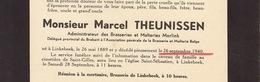 Faire Part De Décès Marcel Theunissen Merlink Linkebeek - Overlijden