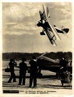 LE MEETING AÉRIEN DE VINCENNES PASSAGE DE MASSOTTE   PHOTO PARIS SOIR 20*15CM - Aviation