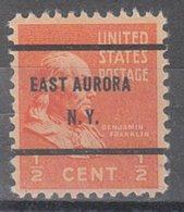 USA Precancel Vorausentwertung Preo, Bureau New York, East Aurora 803,61 - Vereinigte Staaten