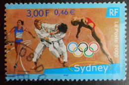 3341 France 2000 Oblitéré Jeux Olympiques De Sydney Australie  Relais Judo Plongeon - Oblitérés