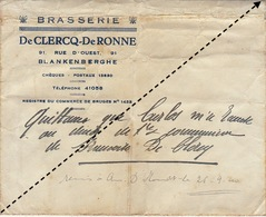 Enveloppe Brasserie De Clercq De Ronne Blankenberge Blankenberghe - Levensmiddelen
