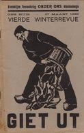 1938 Programme Tooneelkring Onder Ons Blankenberghe Théâtre En 36 Pages - Programmes