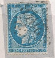 N°60 VARIETE SUR FRAGMENT. - 1871-1875 Ceres