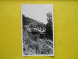 Photo ,gare , Train ,tramway, Autorail à Saint-Isidore,dentelée Format Cpa - Trains