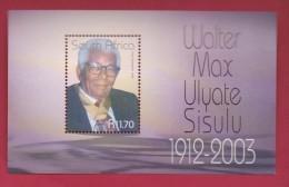 SOUTH AFRICA, 2003, MNH Block (miniature Sheet) , Walter Sisulu,  Sa 1567, #9012 - Ungebraucht