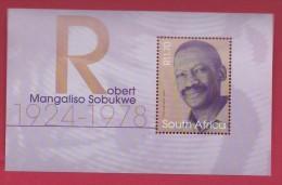 SOUTH AFRICA, 2003, MNH Block (miniature Sheet) , Robert Sobukwe,  Sa 1566, #9011 - Ungebraucht