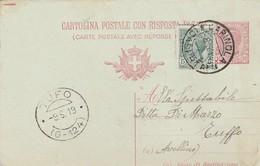 Carinola. 1919. Annullo Guller CARINOLA (CASERTA), Su Cartolina Postale - Storia Postale