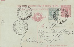 Grazzanise. 1919. Annullo Guller GRAZZANISE (CASERTA), Su Cartolina Postale - Storia Postale