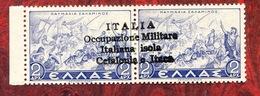 OCCUPAZIONI ITALIANE  1941 - CEFALONIA ITACA EMISSIONE DI ARGOSTOLI N°62 MNH** - Cefalonia & Itaca