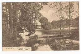Watermael Boitsfort Un Paysage Pittoresque Derrière L' Etang Carte Postale Ancienne - Watermael-Boitsfort - Watermaal-Bosvoorde
