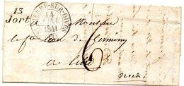 Calvados - LAC (14/01/1841) En Port-dû - Cursive 13/Jort - Marcophilie (Lettres)