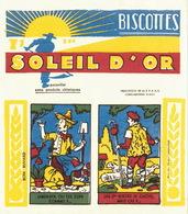 2 Buvards Biscottes Soleil D'Or Très Bon état - Alimentaire