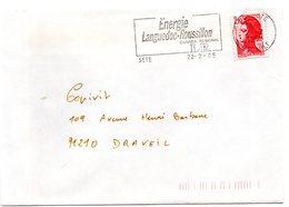 HERAULT - Dépt N° 34 = SETE 1985 = Flamme Type II = SECAP Illustrée  'ENERGIE LANGUEDOC ROUSSILLON' - Marcophilie (Lettres)