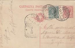 S. Felice A Cancello. 1919. Annullo Guller  S. FELICE A CANCELLO (CASERTA), Su Cartolina Postale. - Storia Postale