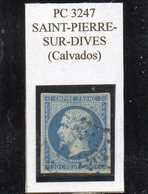 Calvados - N° 14A Obl PC 3247 Saint-Pierre-sur-Dives - 1853-1860 Napoléon III