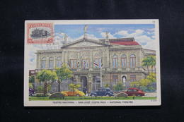 COSTA RICA - Carte Maximum En 1951 - Théâtre National De San José , Voyagé Vers La Guadeloupe - L 56606 - Costa Rica
