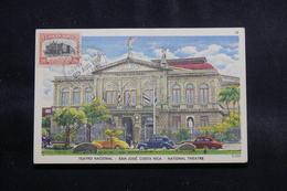 COSTA RICA - Carte Maximum En 1951 - Théâtre National De San José , Voyagé Vers La Guadeloupe - L 56607 - Costa Rica