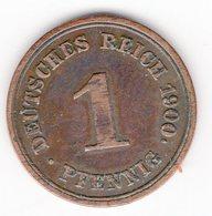 40 - 1 Pfennig - 1900 - E - 1 Pfennig