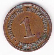 41 - 1 Pfennig - 1900 - F - 1 Pfennig
