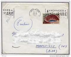 Ar613 Madagascar Lettre  21/06/1962 Secap Vacances à Antsirabé/YT 366 - Lettres & Documents