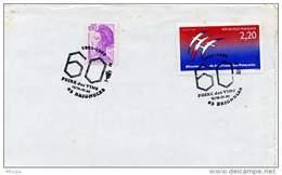 Ar658 GF/env. 60ème Foire Aux Vins Brignolles 15-16/04/1989 - Marcophilie (Lettres)