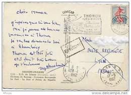 Ar824 Retour Envoyeur CP Thonon Les Bain Pour Lyon  1962 - Marcophilie (Lettres)