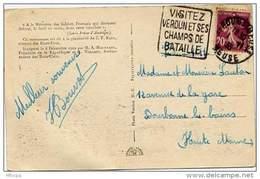 Ar1018 Daguin VER206 Verdun /CP 01/11/1935 - Oblitérations Mécaniques (flammes)
