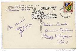 Ar1517 Secap 680 Noiretable 17/07/1962 Loire /CP - Marcophilie (Lettres)