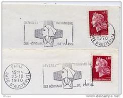 Ar1860 2  Secap 1336b Devenez Infirmière Des Hopitaux De Paris Gare D'Austerlitz 1970 O= Et =o / Lett - Mechanische Stempels (reclame)