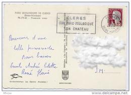 Ar2007 Secap CLE101 Cleres Son Parc Zoologique Son Chateau  Seine Maritime 02/07/1962 / CP - Marcophilie (Lettres)