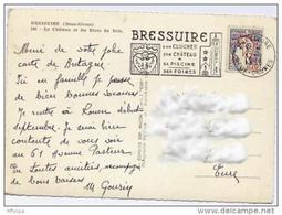 Ar2072 Secap 744 Bressuires Son Clocher Deux Sèvres 12/08/1965 /CP - Marcophilie (Lettres)
