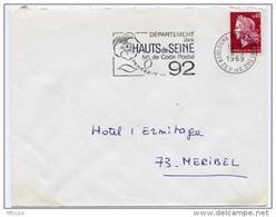 Ar2175 Secap Boulogne Billancourt 92 N° Code Postal Hauts De Seine 03/03/1969 / Lettre - Maschinenstempel (Werbestempel)