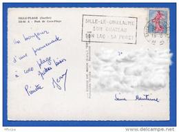 Ar2398 Secap SIL102 Sille-le-Guillaume Son Château Sarthe 13/08/1960 / CP - Marcophilie (Lettres)
