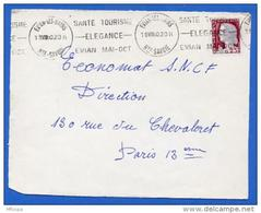 Ar2407 Krag ??? Evian Les Bains Santé Tourisme Elegance Haute Savoie 19/08/1960 / Devant Lettre - Mechanische Stempels (reclame)