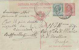 Galluccio. 1919. Annullo Guller GALLUCCIO (CASERTA), Su Cartolina Postale. - Storia Postale