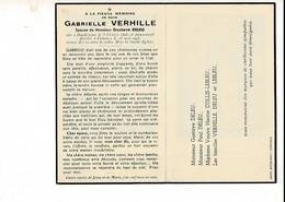 Dp 10427 - GABRIELLE VERHILLE - DELEU - DUNKERQUE 1898 + COMINES 1948 - Andachtsbilder