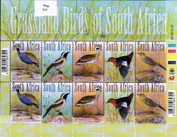 2010 Grassland Birds Of South Africa - Blocks & Kleinbögen