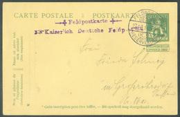 E.P. Carte N°50 (5c. Pellens) Obl. Sc FELDPOSTAMT/RESERVEKORPS Du 27-10-1914 + Griffe Violette FELDPOSTKARTE KAISERLICH - Esercito Tedesco
