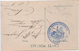 """1914 - CP FM De MARSEILLE Avec CACHET MILITAIRE """"114° REGIMENT TERRITORIAL D'INFANTERIE 33°"""" - Poststempel (Briefe)"""