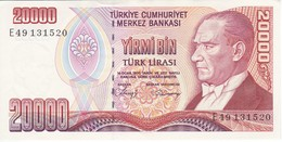 BILLETE DE TURQUIA DE 20000 LIRAS DEL AÑO 1970 SIN CIRCULAR - UNCIRCULATED  (BANK NOTE) - Türkei