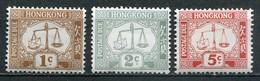 Hongkong Mi# 1,6,14 Postfrisch MNH - Alle Wz. Liegend - Hong Kong (...-1997)
