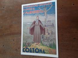 Cartolina Postale Illustrata 1947, Cortona, Celebrazione Centenaria In Onore Di S. Margherita - Arezzo