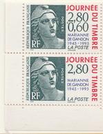 """PIA  -  FRANCE -  1995  : Giornata Del Francobollo - Cinquantenario Della """"Marianna Di Gandon"""" -  (Yv   2933-34) - 1945-54 Marianne De Gandon"""