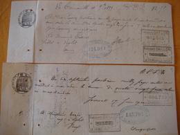 36 - LE BLANC - 2 Mandats - Année 1899 - Vve G.GOIFFON Et J.BLEREAU - France
