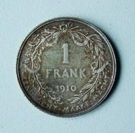 Belgique België 1 Frank Argent 1910 Albert I. - 07. 1 Franc