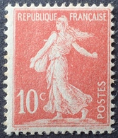 R1513/173 - 1906 - TYPE SEMEUSE CAMEE Avec Sol - N°134e Rouge Clair (II) NEUF** - France