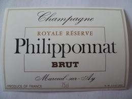 Ancienne étiquette  CHAMPAGNE PHILIPPONNAT Mareuil-sur-ay - Champagne