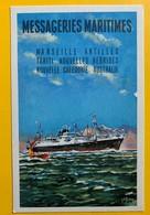 10208 - Messageries Maritimes Marseille Antilles Tahiti Nouvelles Hébrides Nouvelle Calédonie Australie - Paquebote
